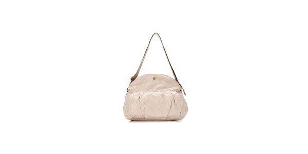 Dámská béžová kabelka s nastavitelným béžovým popruhem