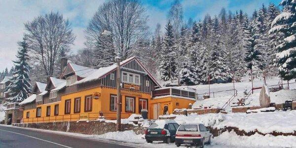 Zimní či jarní dovolená s polopenzí v Jizerkách
