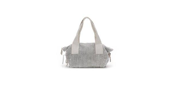 Dámská bílá kožená kabelka s proplétáním Abbacino