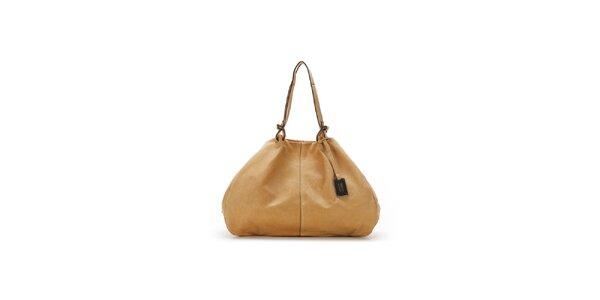 Dámská béžová kožená kabelka Abbacino