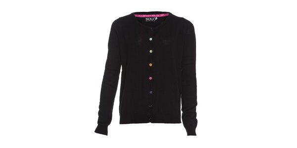 Dámský černý svetřík Little Marcel s barevnými knoflíčky