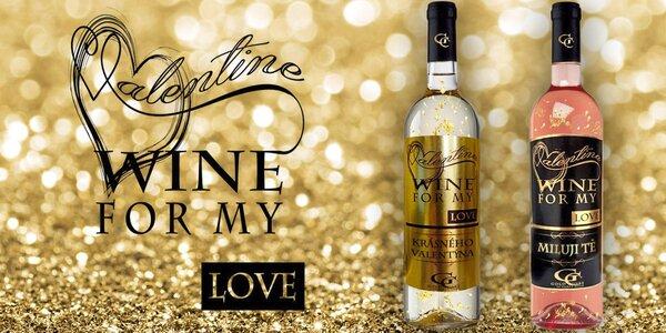 Valentýnské víno s 23karátovým zlatem