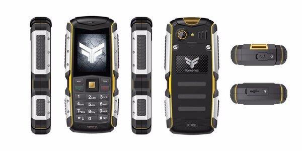 Outdoorový mobilní telefon Flamefox Stone