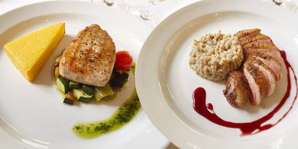 Výtečné degustační menu pro dva U Tří pštrosů