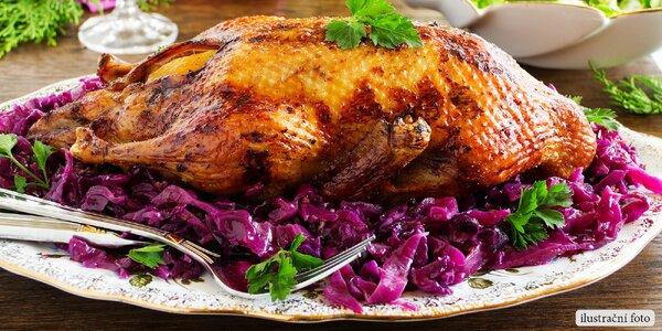 Dozlatova pečená kachnička s poctivou přílohou