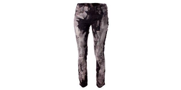 Dámské černo-šedé plísňové džíny Baby Phat