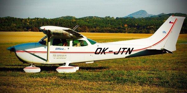 Řízení amerického letounu Cessna 172