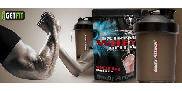 Proteinový nápoj Extreme Whey Deluxe plus šejkr