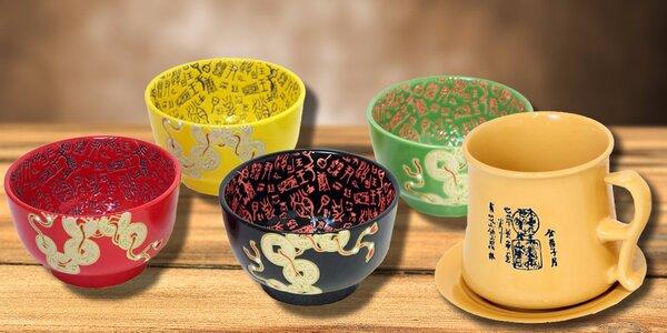 Keramické sety nádobí s čínskými znaky