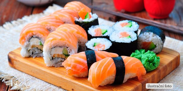 Running sushi v restauraci Wok'n'Roll