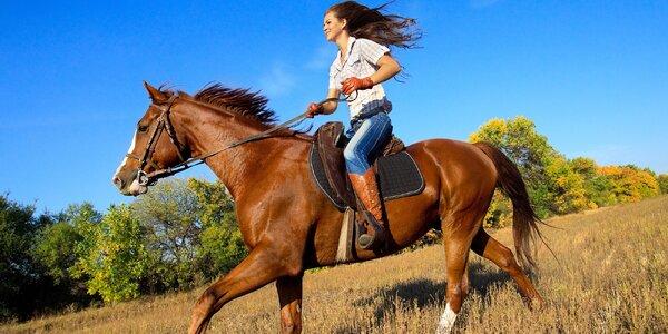 Jízda na koni v doprovodu instruktora