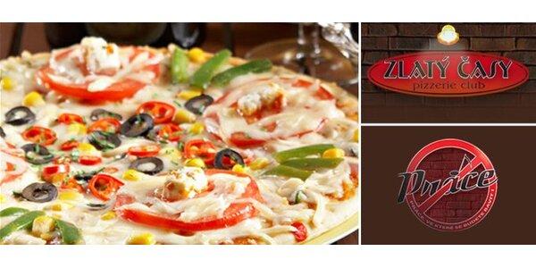 127 Kč za DVĚ poctivé, lahodnými ingrediencemi zdobené italské pizzy.