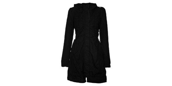Dámský černý bavlněný kabát Miss Sixty s kapucí
