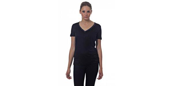 Dámské černé tričko Miss Sixty s flitry