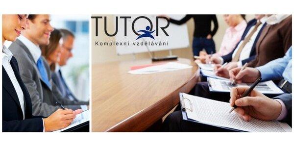 499 Kč za poukaz na profesní vzdělávací kurzy Tutor v hodnotě 1000 Kč!