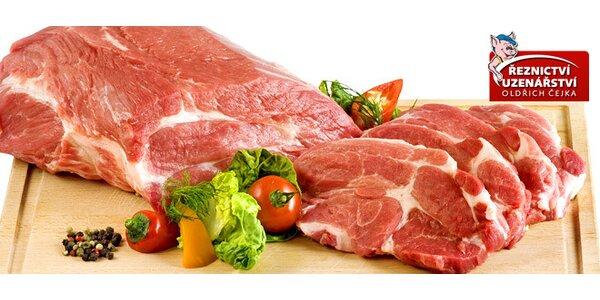 1 kg kvalitní vepřové krkovice na gril - 5 čerstvých plátků masa