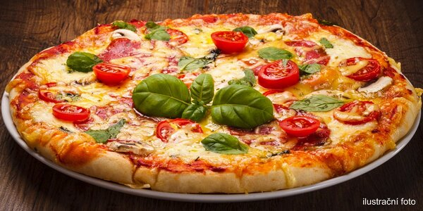 2 křupavé pizzy dle chuti v Pizza Baru Bruk