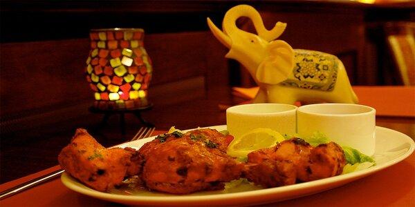 Indické lahůdky dle chuti v restauraci Maharaja
