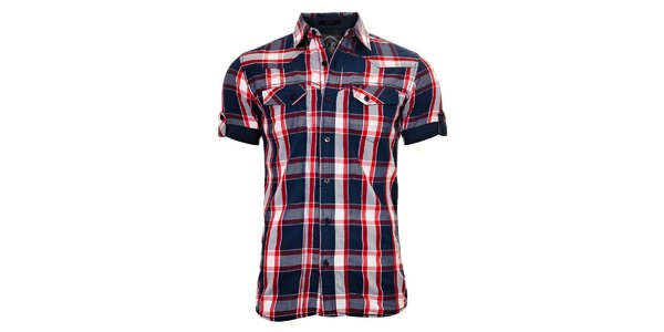 Pánská košile SixValves s modro-červenými kostkami