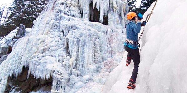 Horolezecký trénink na Ledové stěně Vír