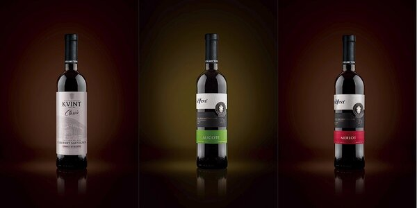 Moldavská odrůdová vína KVINT