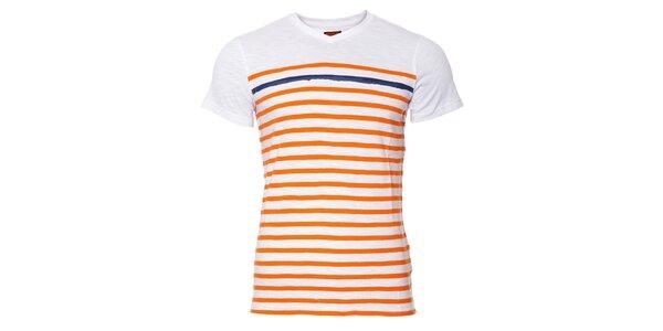 Pánské tričko SixValves s oranžovými proužky