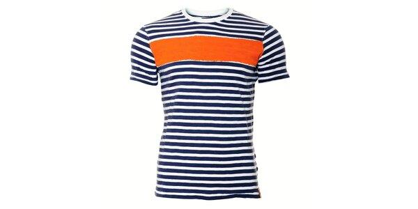 Pánské tričko SixValves s oranžovým pruhem