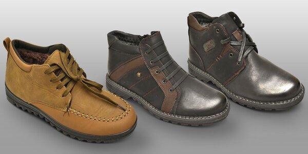 Zateplené pánské boty v kotníkové výšce
