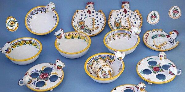 Ručně malovaná velikonoční keramika