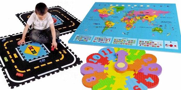 Pěnové puzzle podložky na hraní i učení