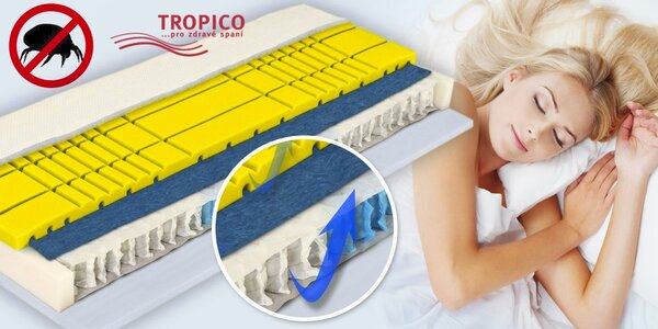 Vysoká taštičková matrace Tropico Princes