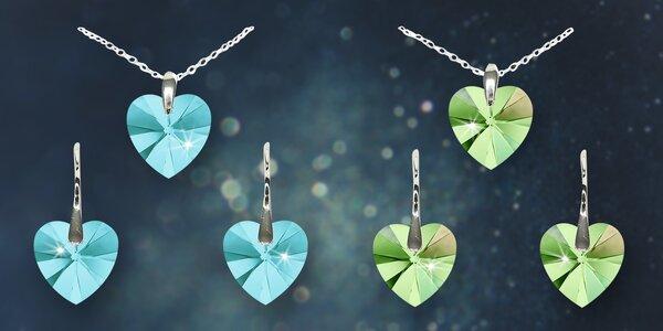 Srdíčková souprava šperků Swarovski Elements