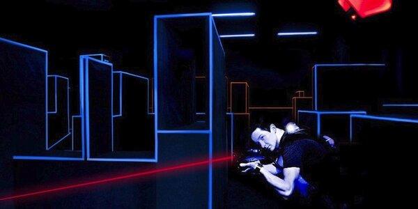 Dvě hry laser game v aréně plné vychytávek