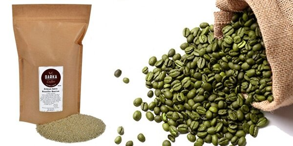 Čerstvě mletá zelená káva Brazílie Santos