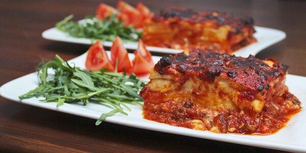 Dvoje pravé italské lasagne u Staromáku