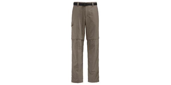 Pánské hnědobéžové sportovní kalhoty Maier s odepínacími nohavicemi
