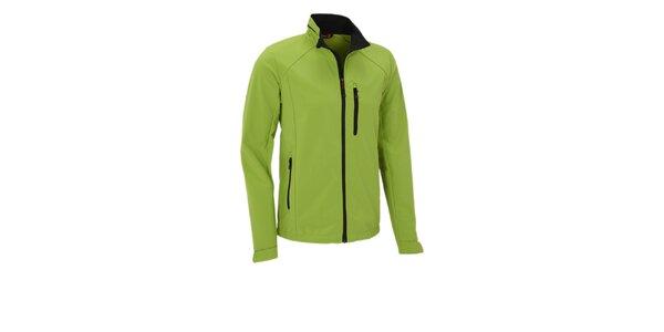 Pánská limetkově zelená softshellová bunda Maier s membránou