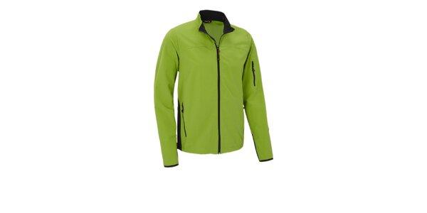 Pánská limetkově zelená softshellová bunda Maier
