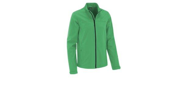 Pánská mátově zelená softshellová bunda Maier s membránou