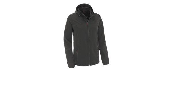 Pánská černá softshellová bunda Maier s kapucí