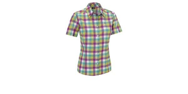 Dámská zeleno-modro-fialová kostkovaná sportovní košile Maier