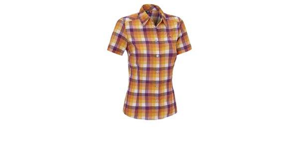 Dámská oranžovo-fialová kostkovaná sportovní košile Maier