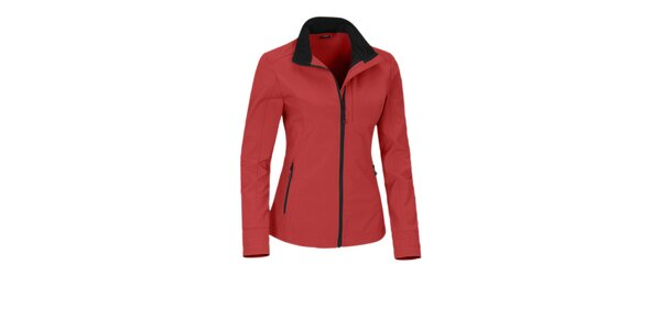 Dámská červená softshellová bunda Maier s membránou