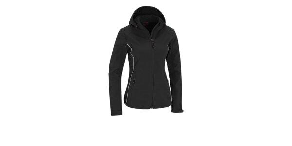 Dámská černá softshellová bunda Maier s membránou a kapucí