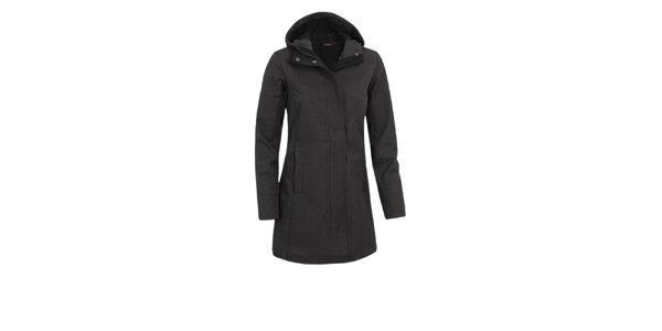 Dámský černý softshellový kabátek Maier s potiskem