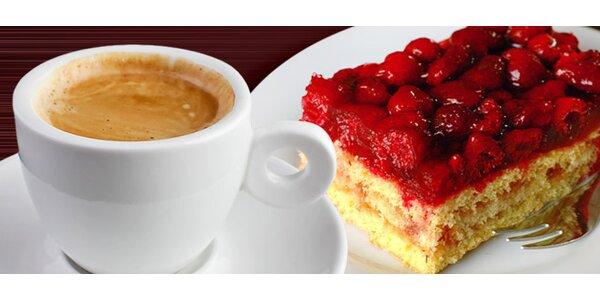 2 zákusky a 2 výběrové kávy v cukrárně U Mlsouna