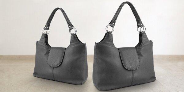 Černá dámská kabelka z pravé kůže
