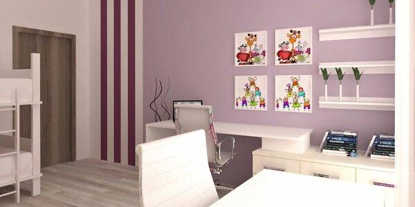 3D návrh dětského pokoje od profi designéra
