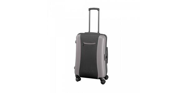 Šedý kufr Esprit střední