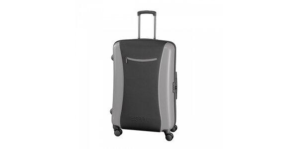 Šedý kufr Esprit velký
